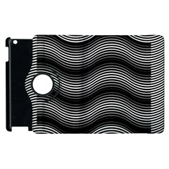 Two Layers Consisting Of Curves With Identical Inclination Patterns Apple iPad 2 Flip 360 Case