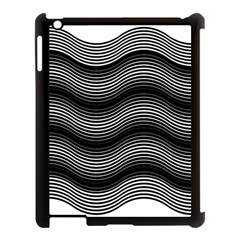 Two Layers Consisting Of Curves With Identical Inclination Patterns Apple iPad 3/4 Case (Black)