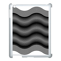 Two Layers Consisting Of Curves With Identical Inclination Patterns Apple iPad 3/4 Case (White)