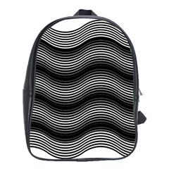 Two Layers Consisting Of Curves With Identical Inclination Patterns School Bags (XL)