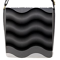 Two Layers Consisting Of Curves With Identical Inclination Patterns Flap Messenger Bag (S)