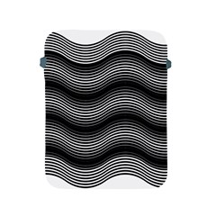 Two Layers Consisting Of Curves With Identical Inclination Patterns Apple iPad 2/3/4 Protective Soft Cases