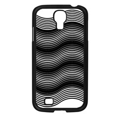 Two Layers Consisting Of Curves With Identical Inclination Patterns Samsung Galaxy S4 I9500/ I9505 Case (Black)