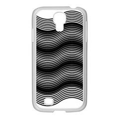 Two Layers Consisting Of Curves With Identical Inclination Patterns Samsung GALAXY S4 I9500/ I9505 Case (White)