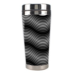 Two Layers Consisting Of Curves With Identical Inclination Patterns Stainless Steel Travel Tumblers