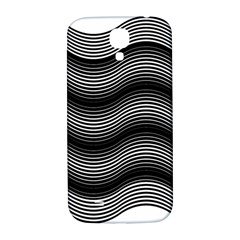 Two Layers Consisting Of Curves With Identical Inclination Patterns Samsung Galaxy S4 I9500/I9505  Hardshell Back Case
