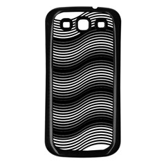 Two Layers Consisting Of Curves With Identical Inclination Patterns Samsung Galaxy S3 Back Case (Black)