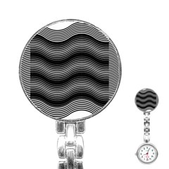 Two Layers Consisting Of Curves With Identical Inclination Patterns Stainless Steel Nurses Watch