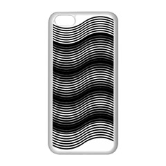 Two Layers Consisting Of Curves With Identical Inclination Patterns Apple iPhone 5C Seamless Case (White)