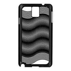 Two Layers Consisting Of Curves With Identical Inclination Patterns Samsung Galaxy Note 3 N9005 Case (Black)