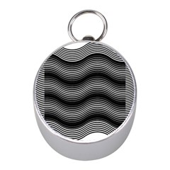 Two Layers Consisting Of Curves With Identical Inclination Patterns Mini Silver Compasses