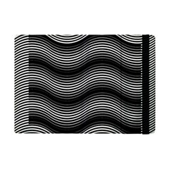 Two Layers Consisting Of Curves With Identical Inclination Patterns iPad Mini 2 Flip Cases