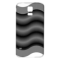 Two Layers Consisting Of Curves With Identical Inclination Patterns Samsung Galaxy S5 Back Case (White)