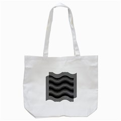 Two Layers Consisting Of Curves With Identical Inclination Patterns Tote Bag (White)