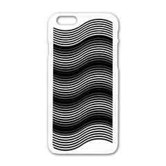 Two Layers Consisting Of Curves With Identical Inclination Patterns Apple iPhone 6/6S White Enamel Case