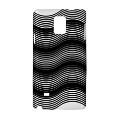 Two Layers Consisting Of Curves With Identical Inclination Patterns Samsung Galaxy Note 4 Hardshell Case