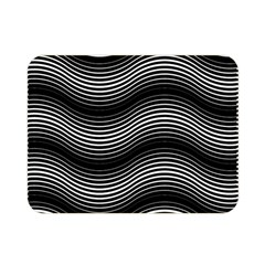 Two Layers Consisting Of Curves With Identical Inclination Patterns Double Sided Flano Blanket (mini)