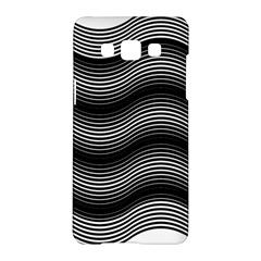 Two Layers Consisting Of Curves With Identical Inclination Patterns Samsung Galaxy A5 Hardshell Case