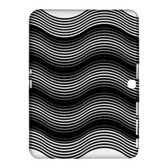 Two Layers Consisting Of Curves With Identical Inclination Patterns Samsung Galaxy Tab 4 (10 1 ) Hardshell Case