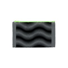 Two Layers Consisting Of Curves With Identical Inclination Patterns Cosmetic Bag (XS)