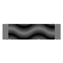 Two Layers Consisting Of Curves With Identical Inclination Patterns Satin Scarf (oblong)