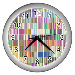 Overlays Graphicxtras Patterns Wall Clocks (Silver)