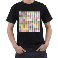 Overlays Graphicxtras Patterns Men s T Shirt (black) (two Sided)