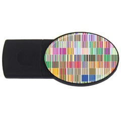 Overlays Graphicxtras Patterns Usb Flash Drive Oval (4 Gb)