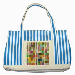 Overlays Graphicxtras Patterns Striped Blue Tote Bag