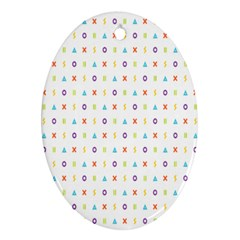 Sign Pattern Ornament (Oval)