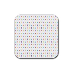 Sign Pattern Rubber Square Coaster (4 pack)