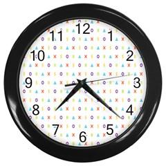 Sign Pattern Wall Clocks (black)