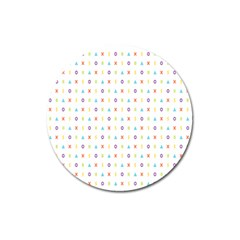 Sign Pattern Magnet 3  (round)