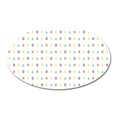 Sign Pattern Oval Magnet