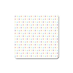 Sign Pattern Square Magnet