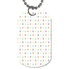 Sign Pattern Dog Tag (One Side)