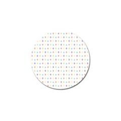 Sign Pattern Golf Ball Marker