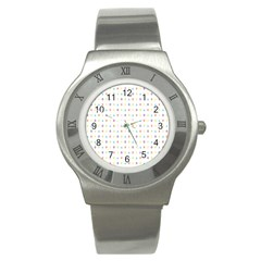 Sign Pattern Stainless Steel Watch