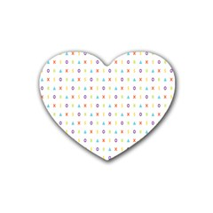 Sign Pattern Rubber Coaster (Heart)