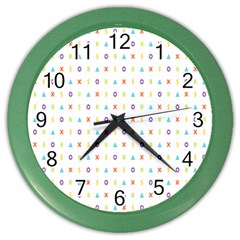 Sign Pattern Color Wall Clocks