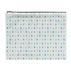 Sign Pattern Cosmetic Bag (XL)