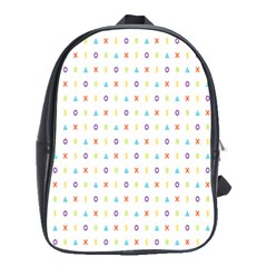 Sign Pattern School Bags(large)