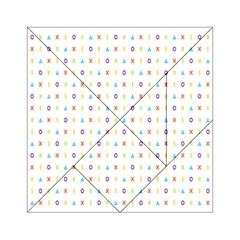 Sign Pattern Acrylic Tangram Puzzle (6  x 6 )
