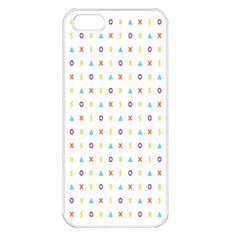 Sign Pattern Apple iPhone 5 Seamless Case (White)