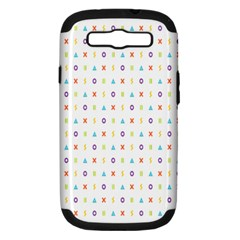 Sign Pattern Samsung Galaxy S III Hardshell Case (PC+Silicone)