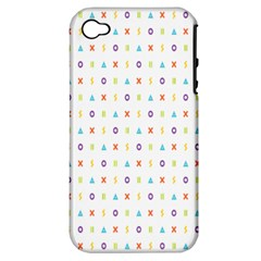 Sign Pattern Apple iPhone 4/4S Hardshell Case (PC+Silicone)