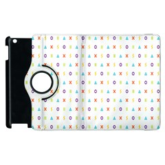 Sign Pattern Apple iPad 3/4 Flip 360 Case