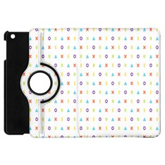 Sign Pattern Apple iPad Mini Flip 360 Case