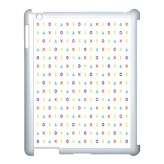 Sign Pattern Apple iPad 3/4 Case (White)