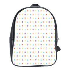 Sign Pattern School Bags (XL)